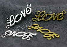 10/40/200pcs Antique Silver Beautiful LOVE Jewelry Charms Connectors 33x10mm Hot