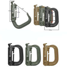 1PC Grimloc D-ring Molle Locking Webbing Buckle Barabiner Climb Backpack Hook