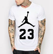 Men's Michael Jordan Tee Shirt New Fashion Cotton White T-Shirt M - 3XL