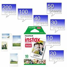 Fujifilm Instax White Instant Film for Fuji Mini 8 90 70 7 7s 25 50s 300 SP-1