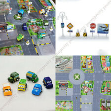 Educational Creative Toy Truck Car Road Signs Traffic Map Kids Children Gift g