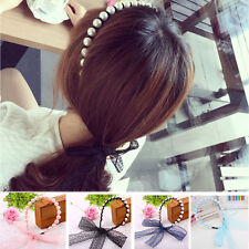 Women Lady Pearl Lace Headband Hair Accessories Head band Headwear New Style Hot