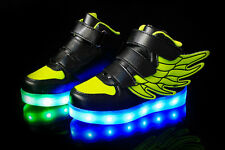 Children Charge LED Light Up Sneakers Athletic Shoes Luminous Skate Shoes