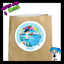 Pool Party BOY Birthday Party Favor Goody Bag STICKERS - Personalized Labels