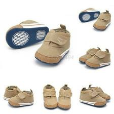 Newborn Baby Boys Soft Sole High Crib Shoes Toddler Prewalkers Ankle Boot Canvas