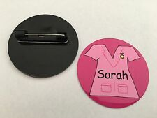 Personalised Nurse SCRUBS Design Badges - 60 Designs - Faces, Scrubs