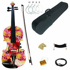 Kinglos 4/4 Full Size Colored Solid Wood Acoustic / Electric Violin Kit