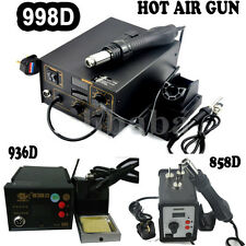 NEW SMD HOT AIR REWORK SOLDERING STATION POWER TOOL 936 / 858D / 998D UK