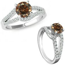 0.75 Ct Champagne Diamond Solitaire Promise Anniversary Bridal Ring White Gold