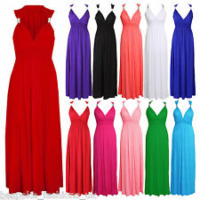 Ladies Womens Spring Coil Summer Maxi Full Length Stretchy Dress One Size 8-14