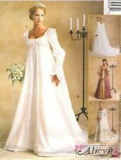 OOP Renaissance Medieval Bridal Gown McCalls Sewing Pattern 2645 McCall's Misses