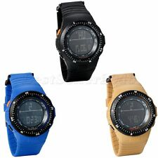 Men Boys Kids LED Digital Multifunction Silicone Waterproof Sports Wrist Watch
