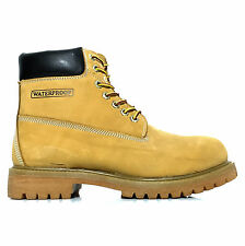 Men's FUDA 6'' Waterproof Plain Rounded Toe Construction Work Safety Boot Wheat