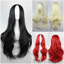 Women's Carve Black Red Blond Long Wavy Curly Costume Cosplay Party Wig Hair