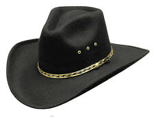 NEW! Black Forest Felt Cowboy Hat Pinch Front Elastic Band - Western Express