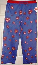 DC Comics Superman All-Over Print Men's Blue Sleep Lounge Pants Assorted Sizes