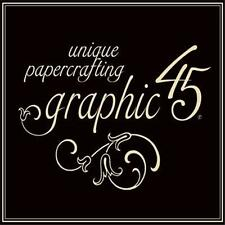 GRAPHIC 45 MOTHER GOOSE & TYPOGRAPHY COLLECTION - PAPER PADS & STICKERS - NEW!!!
