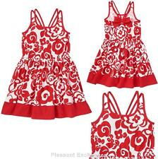 NWT Gymboree 6 PARISIAN AFTERNOON Kid Girls Adorable Red White Floral Bow Dress