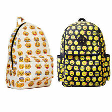 Emotion Smiley Fangirl Emoji Backpack Day Pack Shoulder School Book bag Boy Girl