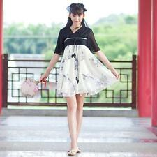 Cute Girls Lady Lolita  Dress Vintage Black and White Old China Style Summer New