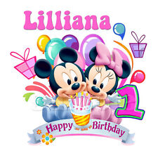 BABY MINNIE MOUSE FIRST BIRTHDAY IRON ON TRANSFER