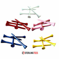 Wooden Golf Tees 83mm/70mm/54mm-Quantities-10/25/50/100/500/1000 Various Colours