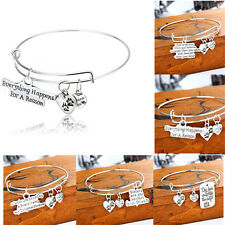 Family Jewelry Daughter Gifts Fashion Bracelet Bangle Charm HOT Women Sister