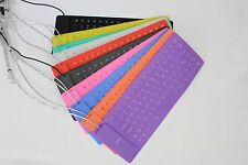 85 Keys USB 2.0 Soft Silicone Roll Up Foldable Keyboard for PC Computer Laptop