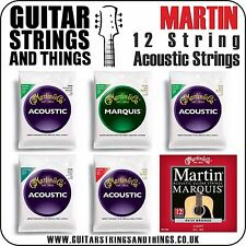 Martin 12 STRING Acoustic Guitar Strings - ALL FINISHES Bronze-Marquis-Phosphor