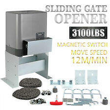 New Sliding Electric Gate Opener 1400KG Automatic Motor Remote Kit Heavy Duty 6m