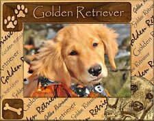GOLDEN RETRIEVER ENGRAVED ALDERWOOD PICTURE FRAME #0086 In four sizes.