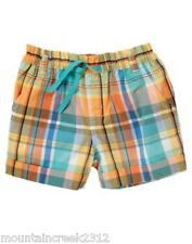 New GYMBOREE Girl's Shorts TROPICAL BLOOM Size 4 6 8 9 Plaid Print Cuffed Cotton