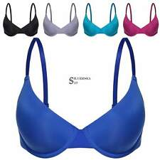 Women solid 3/4 Cup Push Up Bra Underwire Padded Bra Size 32-38 A-E back hsap
