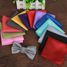 New Men's Polyester Silk Satin Pocket Square Hankie Handkerchief Various Colours