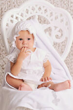 Handmade Baby Girl Set Christening Baby Girl Dress Infant Baby Cotton Dress Hat