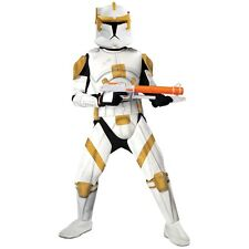 Deluxe Clone Trooper Commander Cody Costume Star Wars Adult Mens Halloween