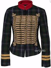 Ralph Lauren Denim & Supply Women Military Army Officer Band Wool Coat Jackets