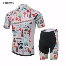 XINTOWN Mens Summer Team Cycling Jersey Sets Bicycle Wear Riding Pad Bib Shorts