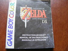 The Legend Of Zelda Links Awakening DX Game Manual - Manual Only, No Game