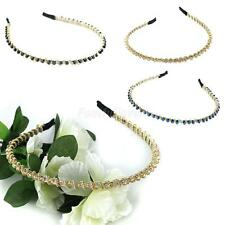 Beads Headband Alice Band Hairband with Crystal Rhinestone Jewelry Accessories