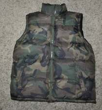 NWT-Mens Active Sports Green Camouflage Puffer Winter Vest Jacket-size L
