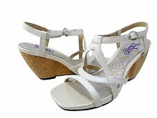Indigo By Clarks Womens Edamame Open Toe Buckle Ankle Strap Cork Wedge Sandals