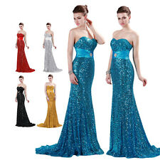 Long Sexy Mermaid Style Prom Party Cocktail Ball Gown Evening Long Sequins Dress