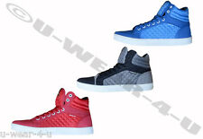 MENS FASHIONABLE CROSSHATCH HIGH TOP TRAINERS TOLFA BASEBALL QUILTED 7,8,9,10,11