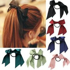Sweet Women Girl Elastic Satin Ribbon Scrunchie Ponytail Holder Hair Band Rope