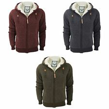 Brave Soul Mens Assassin Hooded Full Zip Jacket With Sherpa Fleece Lining