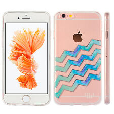 Chevron Wave Clear Soft TPU Back Case Cover Skin For Apple iPhone 6/6s Plus