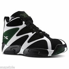 New Men's REEBOK Kamikaze I Mid - V60362 Black White Green Shawn Kemp Basketball