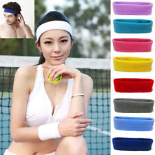 Sport Sweat Sweatband Headband Yoga Tennis Badminton Stretch Unisex Head Band