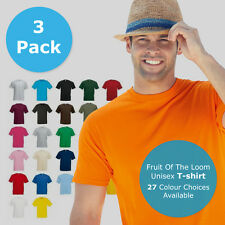 3 PACK Fruit of the Loom t shirts tee valueweight FOTL mens womens cheap shirt